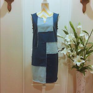 Nanette Lepore  Patchwork denim dress